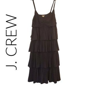 J crew tiered v-neck dress medium